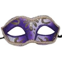 Pandoli Parti Renk Sim İşlemeli Yılbaşı Maskesi