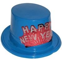 Pandoli Plastik Happy New Year Yılbaşı Şapkası Mavi Renk