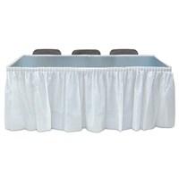 Pandoli Beyaz Renk Plastik Masa Eteği