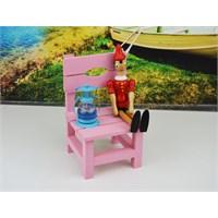 Cosiness Ahşap Dekoratif Mini Biblo Sandalye - Pembe