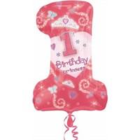 Parti Paketi Minik Prenses 1 Yaşında Supershape Folyo Balon