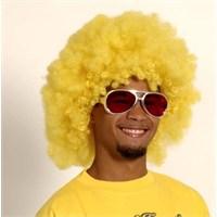 Parti Paketi Afro Sarı Peruk Büyük