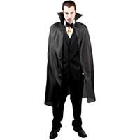 Parti Paketi Vampir/Drakula Pelerini Siyah Kumaş İpli 120Cm