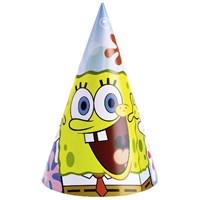 Parti Paketi Sponge Bob Parti Şapkası 6'Lı