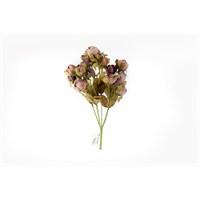 Yedifil Mor Kuru Gül Yapay Çiçek