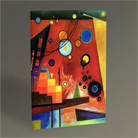 Tablo 360 Wassily Kandinsky Heavy Red Tablo 45X30