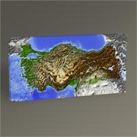 Tablo 360 Türkiye Haritası Tablo 60X30