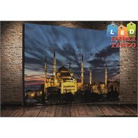 Tablo İstanbul Sultanahmet Cami Led Işıklı Kanvas Tablo 45*65 Cm