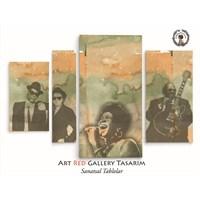 Artred Gallery 4 Parça Müzisyenler Kanvas Tablo 119X80
