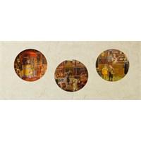 Artred Gallery Ahşap Üçlü Yuvarlak 1600'Lü Yıllar Tablo