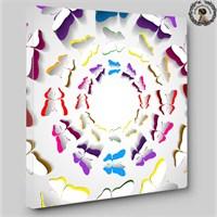 Artred Gallery İllüstrasyon Tablo Kelebekler 60X60