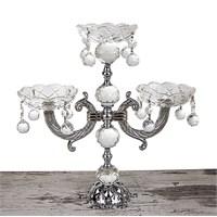 Mukko Home 3'Lü Gümüş Kristal Şamdan