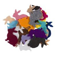 La Mia 25'Li Karışık Renk Tavşan Keçe Motifler Fs204-K