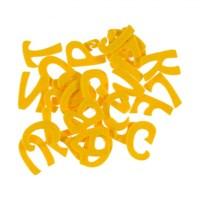 La Mia 29'Lu Sarı Harf Keçe Motifler M09