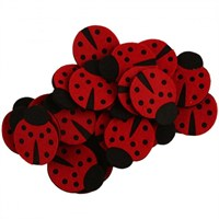La Mia 25'Li Kırmızı Uğur Böceği Keçe Motifler - F203 - M13