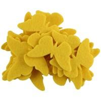 La Mia 25'Li Sarı Kelebek Keçe Motifler - Fs306-M09