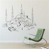 I Love My Wall Modern (Mdn-095)Sticker(Baykuş Sticker Hediye!)