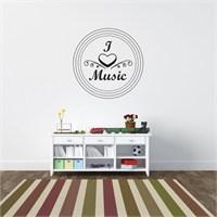 I Love My Wall Konuşan Duvarlar (Kd-335)Sticker(Baykuş Sticker Hediye!)