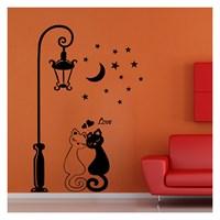 Lover Cats Kadife Duvar Sticker