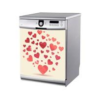 Artikel Uçuşan Kalpler Bulaşık Makinası Stickerı Bs-175