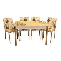 Mrt Mutfak masası takımı cam siyah halka masa 4 siyah halka deri sandalye