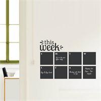 Dekorjinal Haftalık Program Yazılabilir Yaz Sil Sticker Ys24