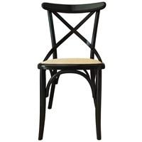 Albero Home Hasırlı Sandalye Siyah