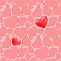 Golden Kids Kırmızı Kalp Desenli Duvar Kağıdı
