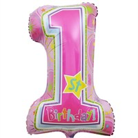 Pandoli Supershape Folyo One Derful Birthday Girl Balon