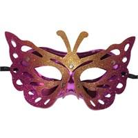 Pandoli Pembe Sarı Renk Kelebek Maske