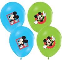 Pandoli 25 Adet Mickey Baskılı Renkli Balon Latex