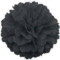 Pandoli 1 Adet Siyah Renk Pelur Kağıt Ponpon Çiçek 25 Cm Asma Süs