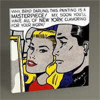 Tablo 360 Roy Lichtenstein Masterpiece Tablo 30X30