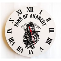 Köstebek Sons Of Anarchy Logo Duvar Saati Ahşap Duvar Saati