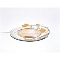 Lucky Art Gold Amber Kelebekli Tabak - Cd 025