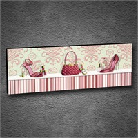 Artmoda - Kabartmalı Pink Accessories Tablo