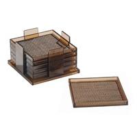 Bosphorus Bardak Altlığı 6 Lı Set Twillo Model Bronz Kahverengi Paslanmaz Çelik 6,5*10,5*10,5 Cm
