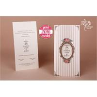 Rustik Tasarım Sade Şık Düğün Davetiye 100 Adet Zarfsız