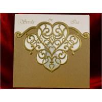 Kalp Modelli Düğün Davetiye 100 Adet Zarfsız