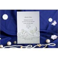 Kelebek Düğün Davetiye 100 Adet Zarflı