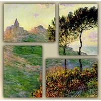 Tictac 4 Parça Kanvas Tablo - Monet