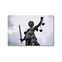 Tictac Adalet Heykeli Kanvas Tablo - 60X90 Cm