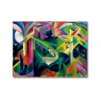 Tictac Dekoratif Hayvanlar 2 Kanvas Tablo - 60X90 Cm