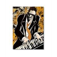 Tictac Jazz Pianist Kanvas Tablo - 50X75 Cm