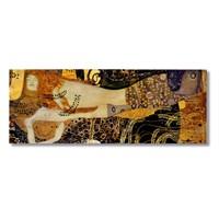 Tictac Gustav Klimt Kanvas Tablo - 30X90 Cm