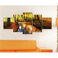 Tabloshop - Kp-29 5 Parçalı Canvas Tablo - 123X56cm