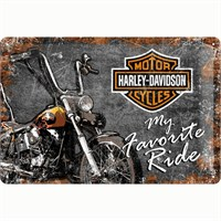 Nostalgic Art Harley Davidson Metal Kabart Malı Duvar Panosu (20 X 30 Cm)