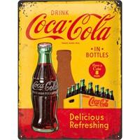Nostalgic Art Cocacola - In Bottles Yellow Metal Kabart Malı Duvar Panosu (30 X 40 Cm)
