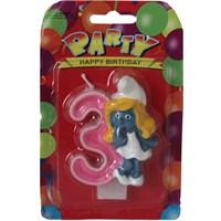 Pandoli Şirine Modelli 3 Yaş Doğum Günü Mumu