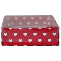 Pandoli Kalpli Kırmızı Karton Kutu 9 Cm
